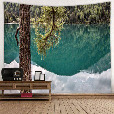 Creative Tree Reflection Print Tapestry
