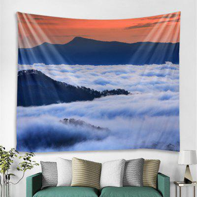 Mountain Sea Landscape Printed Tapestry