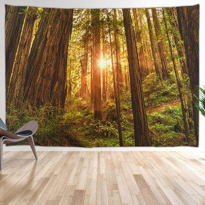 Woods Forest Pod The Sun Digital Printing Tapestry