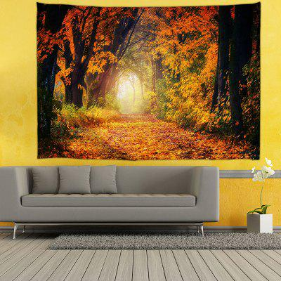 Yellow Maple Leaf Printed Tapestry
