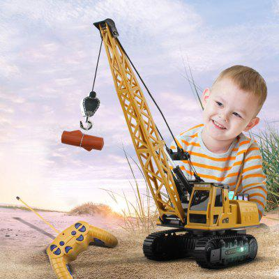 8062E Remote Flash Music Auto Demonstration 12 Channel RC Crane Track Engineering Vehicle Toy Gift