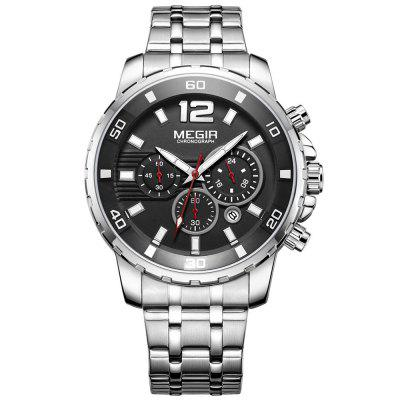gearbest.com - MEGIR 2068 Men's Quartz Watch Multi-function Business Sports Waterproof Timing