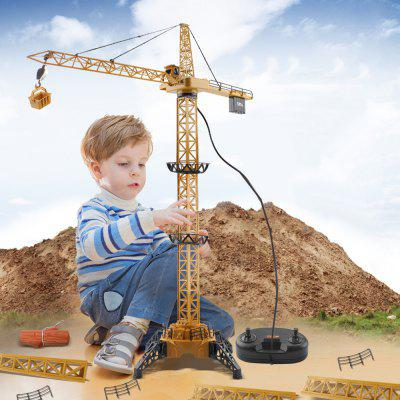 8054E 128cm Tall Hanging Tower Crane 4-channel Wire-controlled Engineering Vehicle Toy Gift