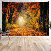 Yellow Maple Leaf Printed Tapestry - MULTI-A