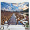 Blue Sky Water Trail Fine View Tapestry - HEMELSBLAUW