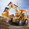 8075E 2.4G Remote Control Simulation RC Excavator Truck - Golden brown