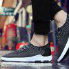 Men's Casual Shoes Mesh Breathable Sports Flying Woven Running - BLACK
