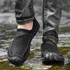 AILADUN Men's Shoes Breathable Hollow Outdoor Hand Stitching Large Size - BLACK