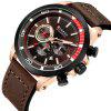 CURREN 8310 Men's Watch Six-pin Calendar Leather Waterproof - COFFEE