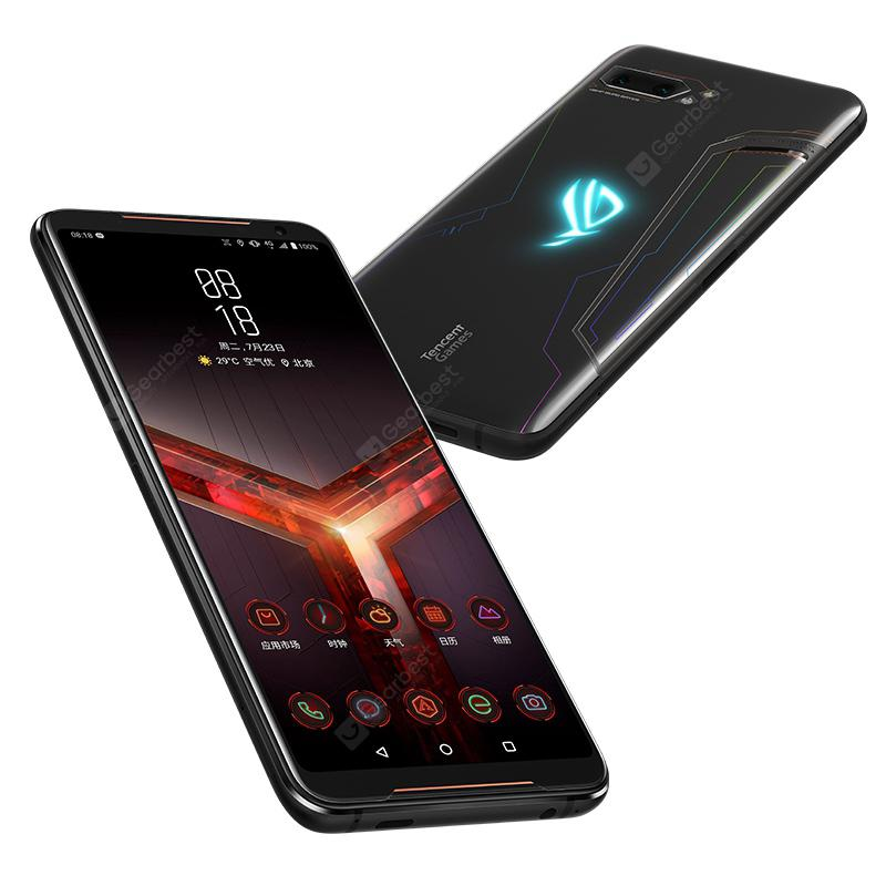 Gearbest ASUS ROG Phone 2 Gaming 4G Smartphone 8GB RAM 128GB ROM International Version - Black 6.59 inch Android Pie Snapdragon 855 Plus Octa Core 2.96GHz 48.0MP + 13.0MP Rear Camera 6000mAh Battery