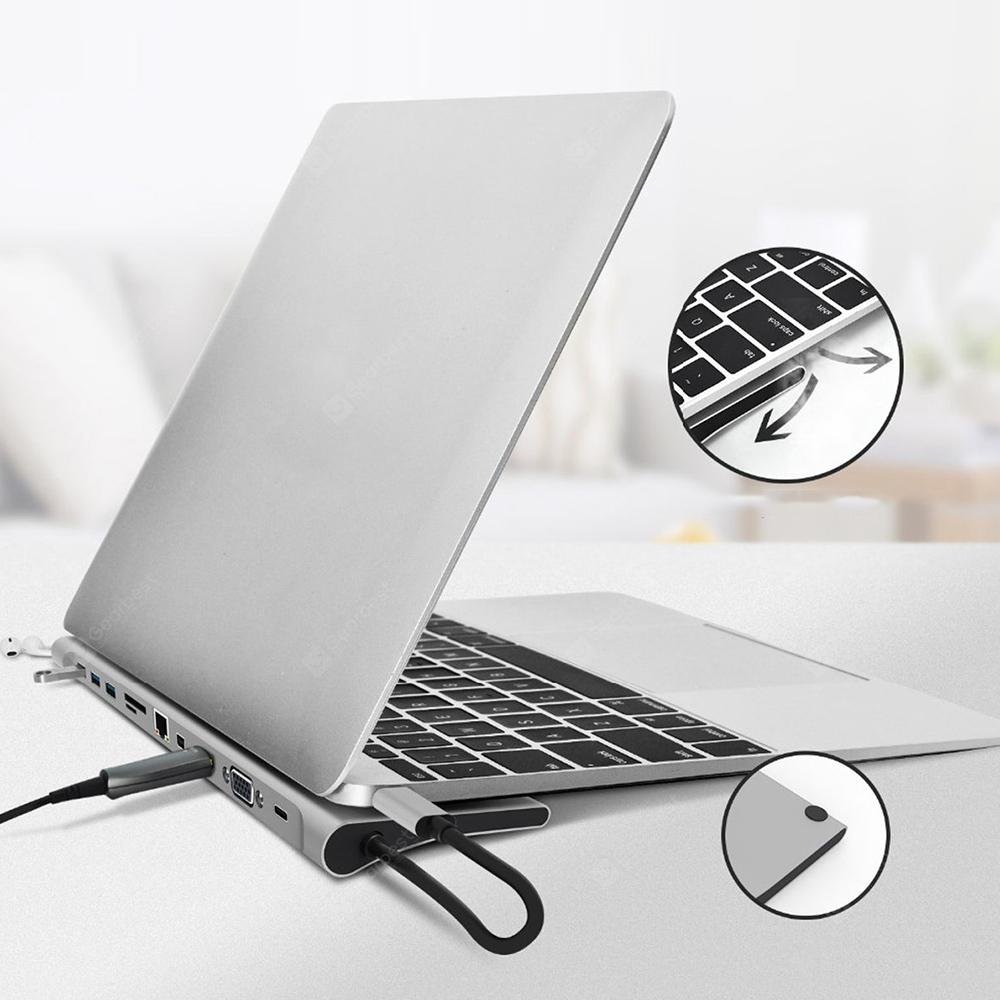 Gocomma 11-in-1 Most Powerful Patented Hub Notebook Base