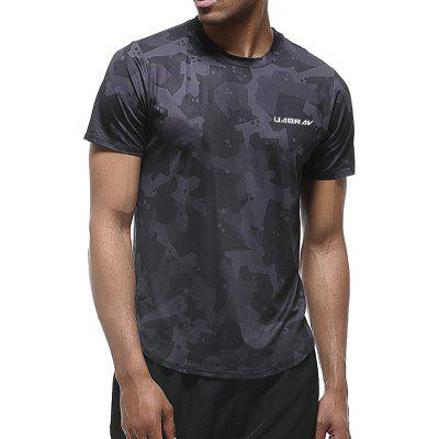 Men's T-shirt Casual Quick-drying Short-sleeved Stretch Breathable Sweat-absorbent