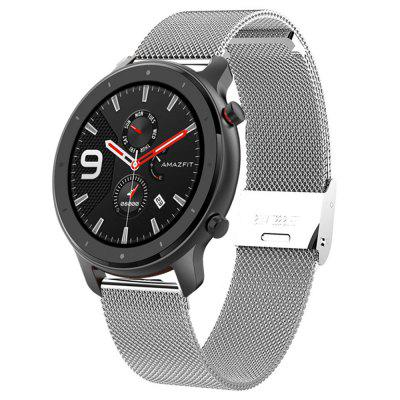 TAMISTER Buckle Metal Mesh Replacement Strap for Amazfit GTR 47MM