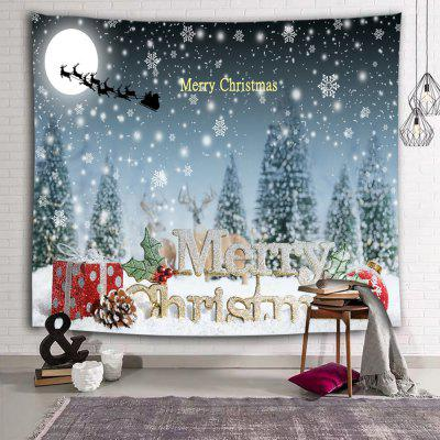 Christmas Series Snow Print Polyester Sanding Tapestry