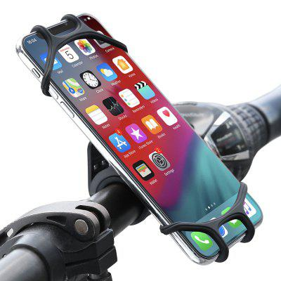 FLOVEME Rotatable Silicone Bike Phone Holder for 4.5 - 7 inch Smartphone