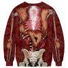 Men's Sweater Fashion Simple Halloween Visceral Funny 3D Printed Round Neck - MULTI-A
