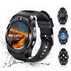 V8 Bluetooth Touch Screen Smart Watch Phone - BLACK