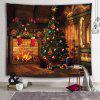Christmas Tree Furnace Decorative Printed Tapestry - BLOOD RED