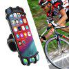 FLOVEME Rotatable Silicone Bike Phone Holder for 4.5 - 7 inch Smartphone - BLACK
