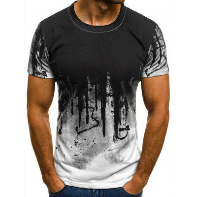 Herren T-Shirt Kurzarm Koreanisches Lässiges Top Shirt