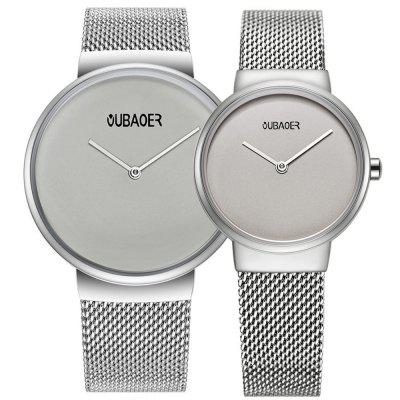 OUBAOER 2008 Couple Quartz Watch Simple Ultra-thin Waterproof