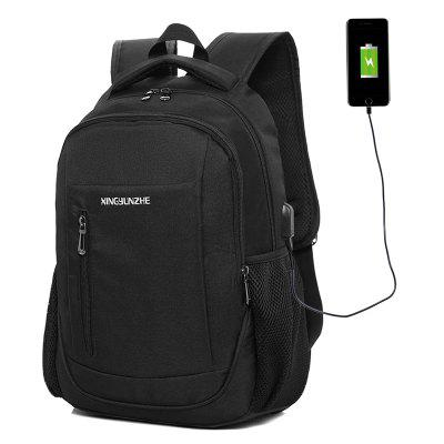 Men's Backpack Multi-layer Structure Wide Shoulder Strap Mesh with USB Charging Hole