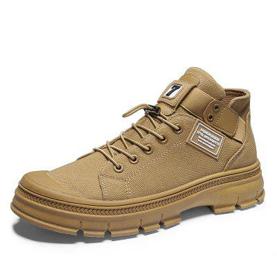 AILADUN Men's Shoes Canvas Casual Tooling Boots
