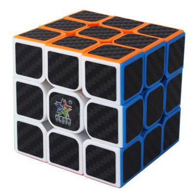 ZHISHENG Carbon Fiber Sticker 3 x 3 x 3 Magic Cube Educational Toys