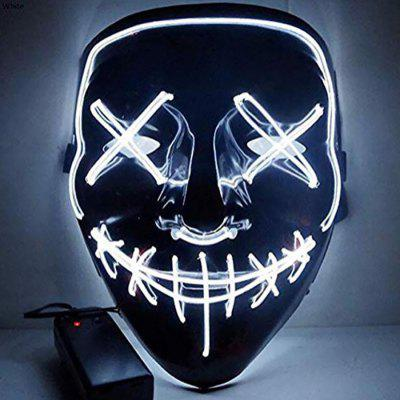 Kolorowa maska ​​LED Halloween Theme Cosplay Costume Supplies