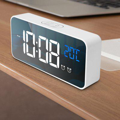 8808 Stylish Mirror Music Alarm Clock