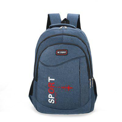 Men's Backpack Wide Shoulder Strap Multi-bag Structure Heavy College Wind Bag