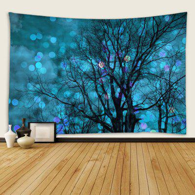 Indoor Wall Decor Polyester Abstract Light Spot Tree Print Universal Tapestry