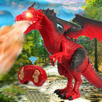 Simulation Animal Flying Dragon Model Electric Remote Control Spray Dinosaur Toy Gift