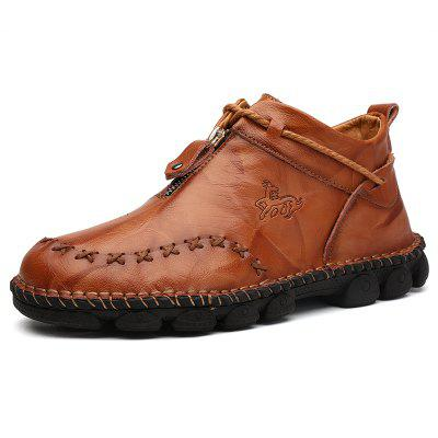 AILADUN Mens Shoes Casual Sewing Large Size Leather