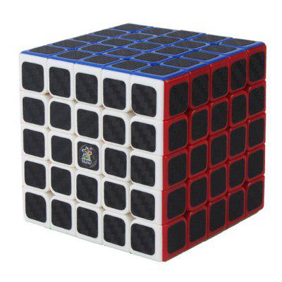 ZHISHENG koolstofvezel sticker 5 x 5 x 5 Magic Cube educatief speelgoed