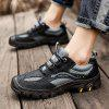Men's Shoes Leather Large Size Handmade Breathable - BLACK