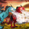 Simulation Animal Flying Dragon Model Electric Remote Control Spray Dinosaur Toy Gift - LAVA RED