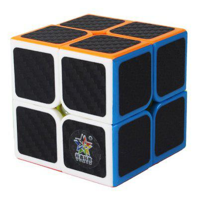 ZHISHENG Carbon Fiber Sticker 2 x 2 x 2 Magic Cube educatief speelgoed