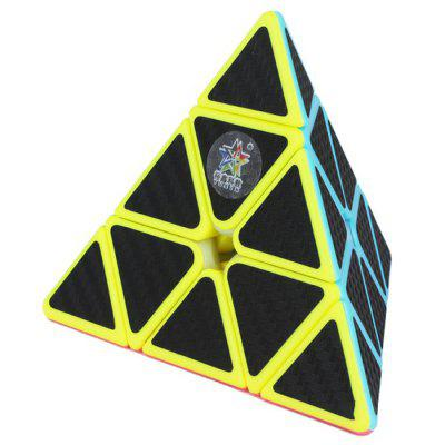 ZHISHENG Carbon Fiber Sticker Pyramid Magic Cube Educational Toy