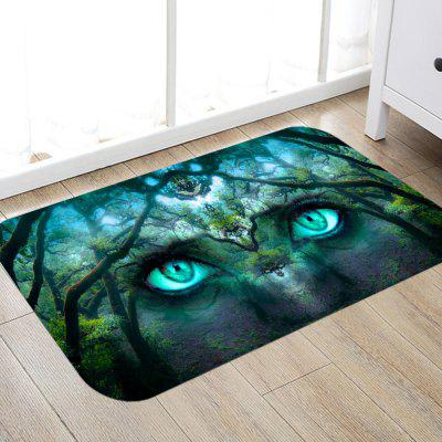 Gaze Print Non-slip Home Mat Carpet