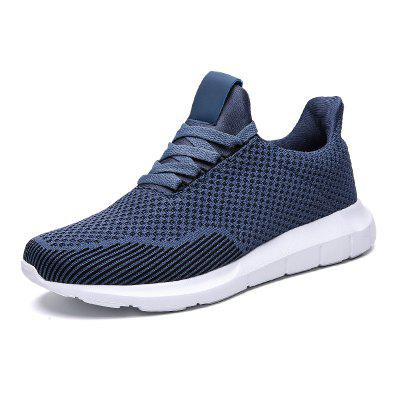 Men Casual Sports Shoes Large Size Breathable Ultra Light Solid Color