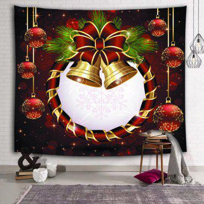 Christmas Bell Ball Decoration Printed Polyester Sanding Tapestry