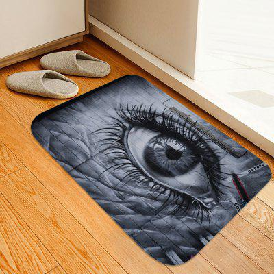 Large Eyes Printed Non-slip Absorbent Home Floor Mat