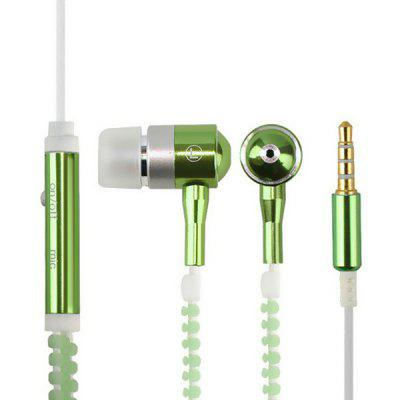 LY2 Luminous Metal In-ear Heavy Bass Earphone with Mic