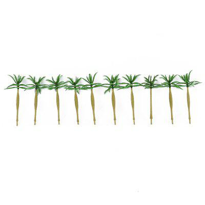 PXWG Sand Table Model Tree Coconut Palm Finished 10pcs