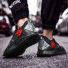 Men's Casual Sports Shoes Large Size Fashion Breathable - BLACK