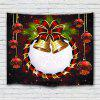 Christmas Bell Ball Decoration Printed Polyester Sanding Tapestry - FIREBRICK