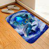 Dolphin Sea Water Whirl Cushion Carpet - OCEAN BLUE