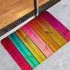 Color Wooden Board Printing Non-slip Absorbent Home Floor Mat - MULTI-C
