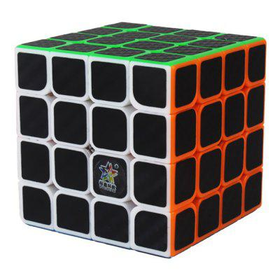 ZHISHENG Fibră de carbon autocolant 4 x 4 x 4 Magic Cube Jucărie educativă